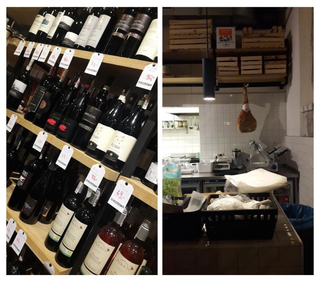 Mercato wystrój i wina
