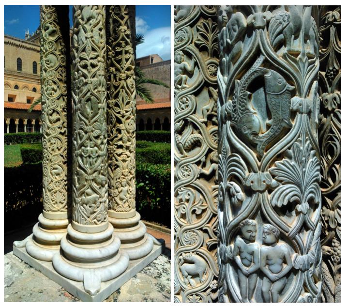 Monreale krużganki w katedrze