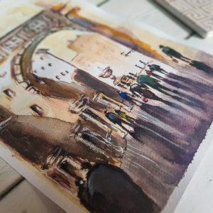 Rzym ilustracja uliczka a5_