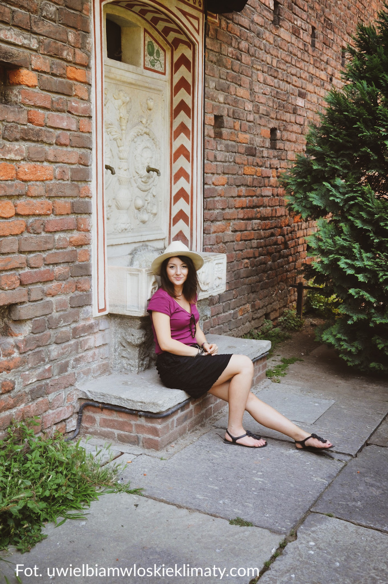 włoski ogród fontanna Mediolan