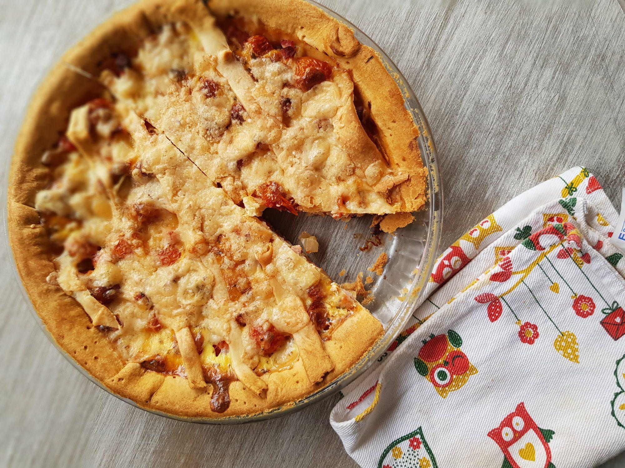 wloska tarta z pomidorami